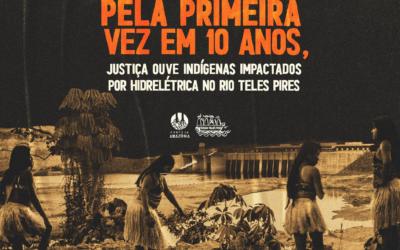 Teles Pires: Audiência inédita vai escutar povos indígenas atingidos por hidrelétrica, em MT