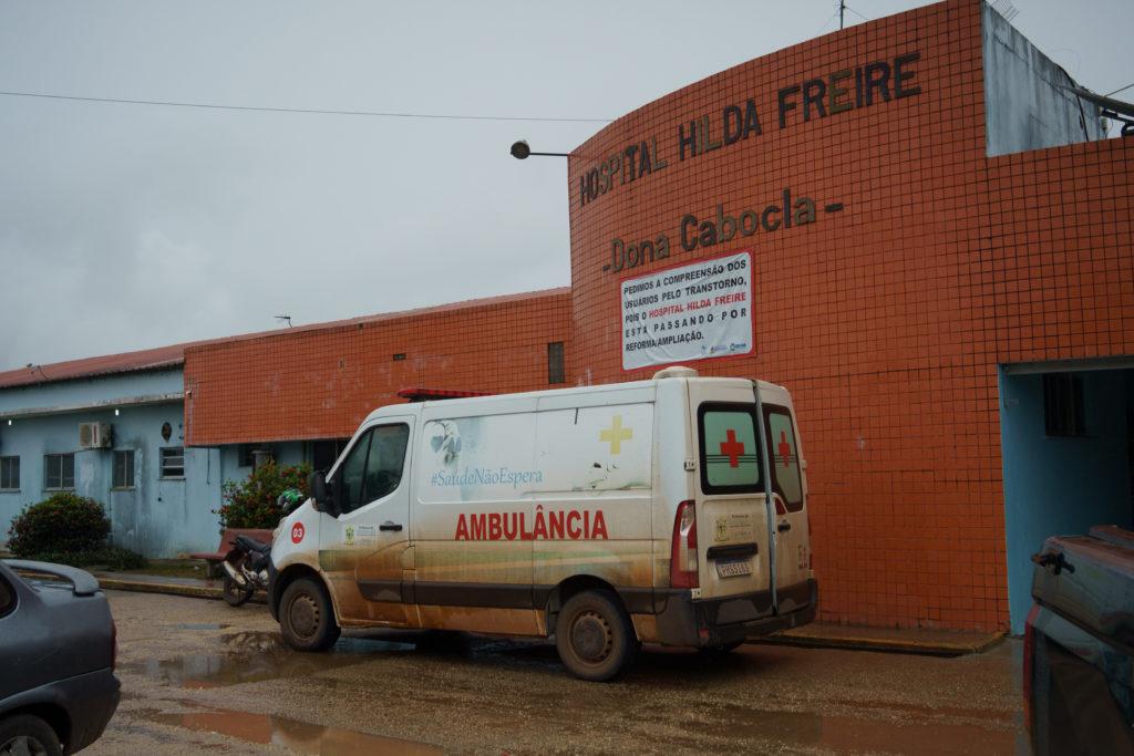 Hospital Hilda Freire, referência para atendimento de covid-19 em Iranduba. ( foto: Samara Souza)