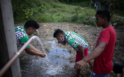 Sistemas de água e saneamento chegam às aldeias Mundurukus que sofrem com contaminação dos garimpos
